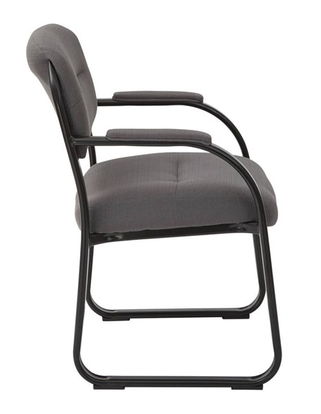 FL Series Deluxe Charcoal Fabric Metal Sled Base Visitors Chair OSP-FL1055-W12