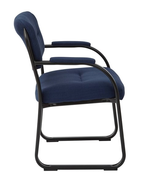 FL Series Deluxe Indigo Fabric Metal Sled Base Visitors Chair OSP-FL1055-W17