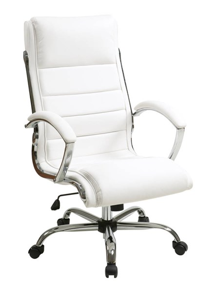 FL Series White Thick Padded Faux Leather Seat & Back Executive Chair OSP-FL1327C-U11