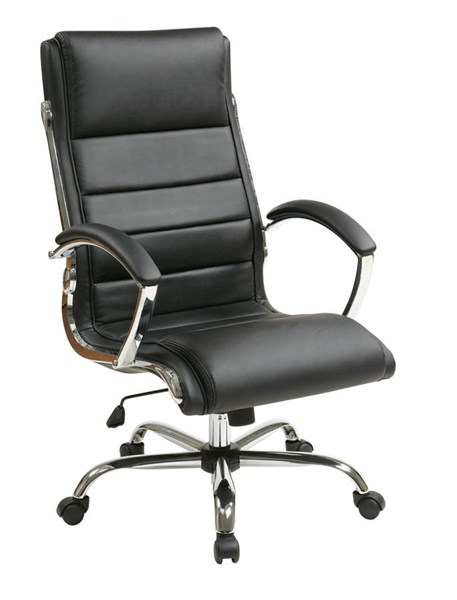 FL Series Black Thick Padded Faux Leather Seat & Back Executive Chair OSP-FL1327C-U6