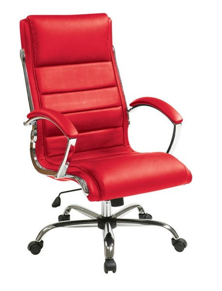 FL Series Red Thick Padded Faux Leather Seat & Back Executive Chair OSP-FL1327C-U9