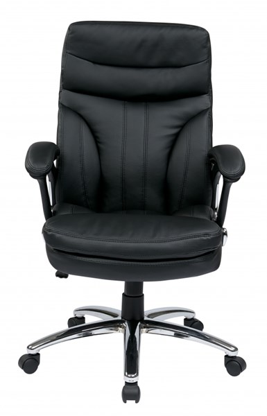 FL Series Black High Back Faux Leather Padded Arms Executive Chair OSP-FL2604C-U6