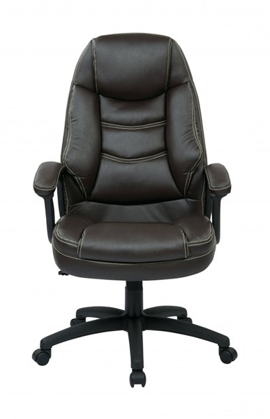 FL Series Espreso Oversized Faux Leather Padded Arms Executive Chair OSP-FL3422-U1