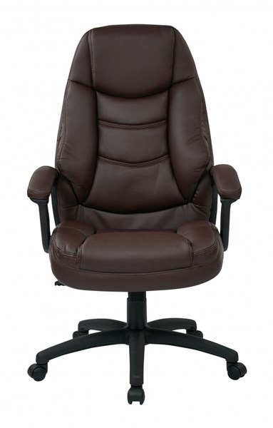 FL Series Burgundy Oversized Faux Leather Padded Arms Executive Chair OSP-FL3422-U4
