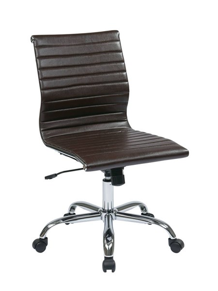 FL Series Thick Padded Espresso Faux Leather Seat & Back Armless Chair OSP-FL3830C-U2