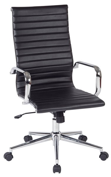 FL Series Modern Black Faux Leather Metal High Back Office Chair OSP-FL4836C-U6