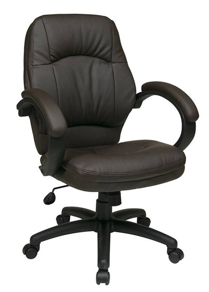 FL Series Chocolate Faux Leather Fabric Deluxe Managers Chair OSP-FL605-U2