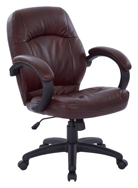 FL Series Chestnut Brown Faux Leather Wood Deluxe Managers Chair OSP-FL605-U31