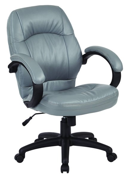 FL Series Charcoal Grey Faux Leather Wood Deluxe Managers Chair OSP-FL605-U42