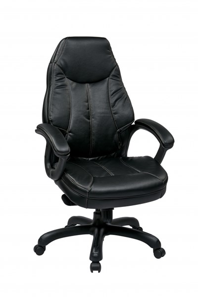 FL Series Black Deluxe Oversized Faux Leather Executive Chair OSP-FL642-U6
