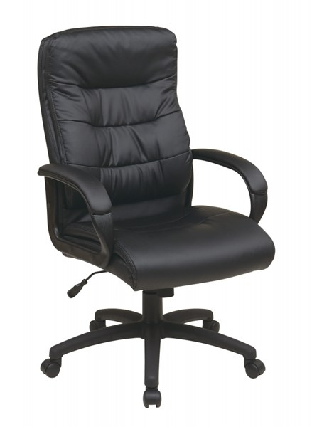 FL Series Black High Back Faux Leather Arms Executive Chair OSP-FL7480-U6