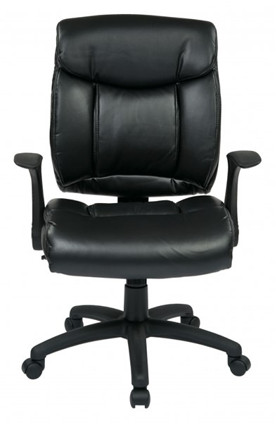 FL Series Black Faux Leather Flip Arms Managers Chair OSP-FL89675-U6
