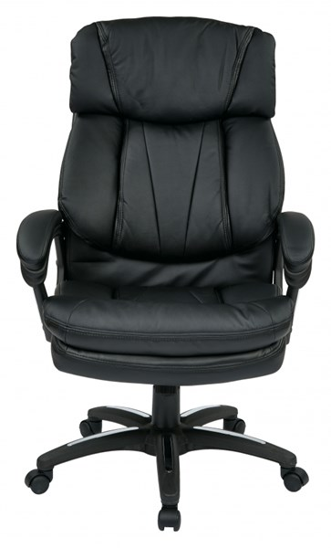 FL Series Black Oversized Faux Leather Arms Executive Chair OSP-FL9097-U6