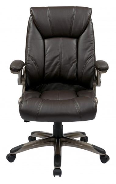 FL Series Faux Leather Mid Back Managers Chairs w/Arms OSP-FLH2498-CH-VAR