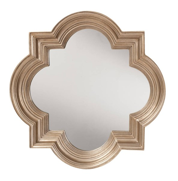 The Gatsby Platinum Gold Frame Wall Mirror OSP-GC0502