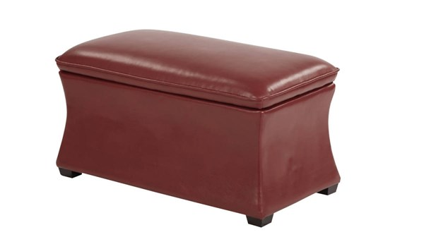 Ave Six Hourglass Bonded Leather Storage Ottoman OSP-HG3218-BD-OT-VAR