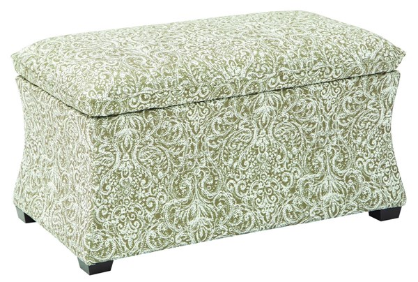 Hourglass Transitional Fabric Veranda Wood Storage Ottoman OSP-HG3218-VR-OT-VAR