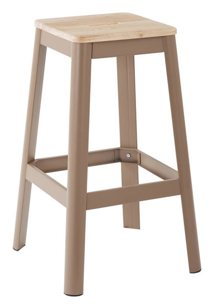 Hammond Frosted Cappuccino Metal Lightwood Seat 30 Inch Barstool OSP-HMM9430L-C233