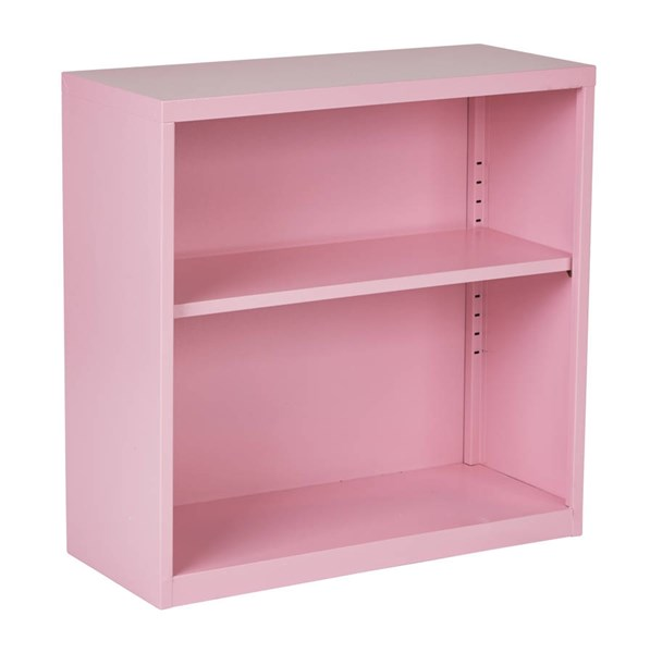 HPB Modern Pink Metal One Adjustable Shelf Fully Assembled Bookcase OSP-HPBC261