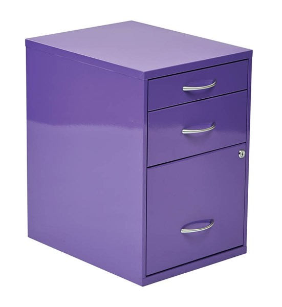 HPB 22 Inch Purple Cold Rolled Steel 3 Drawers Storage File Cabinet OSP-HPBF512