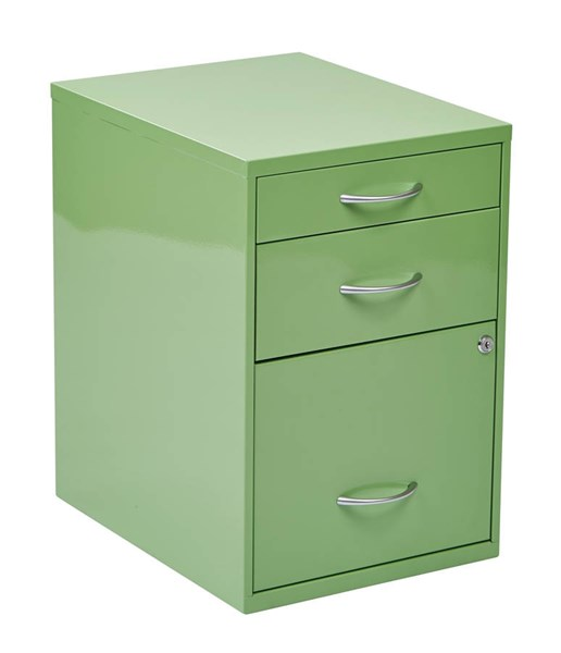 HPB 22 Inch Green Cold Rolled Steel 3 Drawer Storage File Cabinet OSP-HPBF6