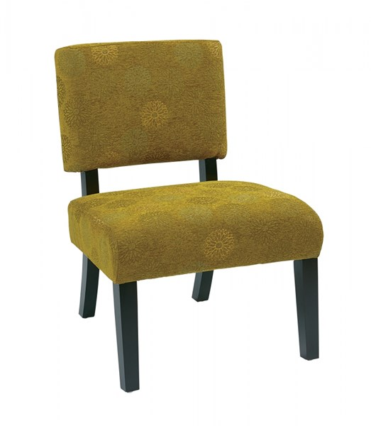 Jasmine Blossom Green Wood Fabric Accent Chairs OSP-JAS-LCH-VAR