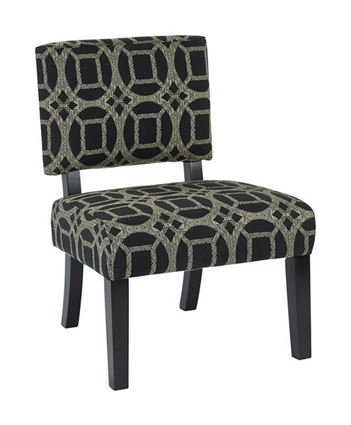 Jasmine Contemporary Marble Fabric Wood Accent Chair OSP-JAS-C58