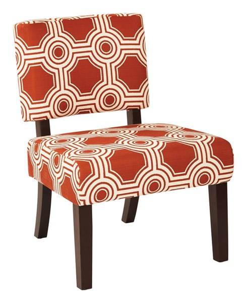 Jasmine Contemporary Saffrom Fabric Wood Accent Chair OSP-JAS-P6