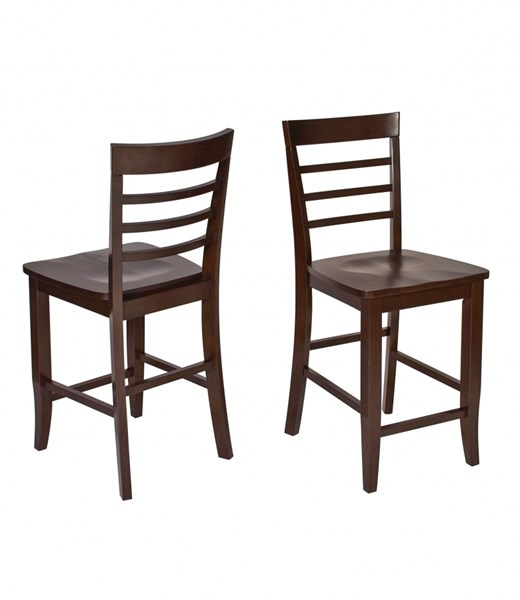 2 Jamestown Contemporary Espresso Solid Wood Barstools OSP-JT424
