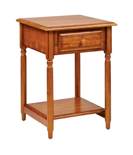 Knob Hill Transitional Cherry Wood Storage Accent Table OSP-KH17