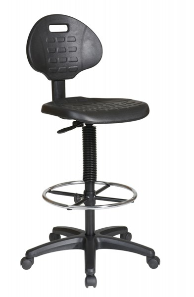 KH Series Black Intermediate Tall Adjustable Footrest Drafting Chair OSP-KH550