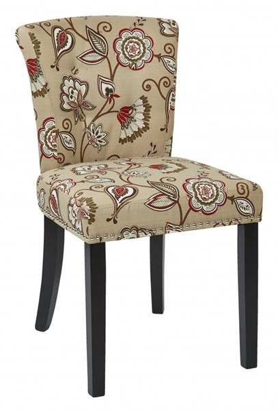 Kendal Bisque Fabric Wood Button Back Chairs OSP-KND-LCH-VAR