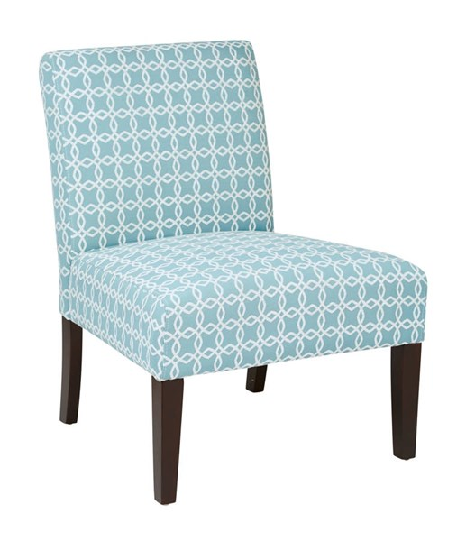 Laguna Traditional Dark Celtic Azure Fabric Dark Espresso Wood Chair OSP-LAG51-C37