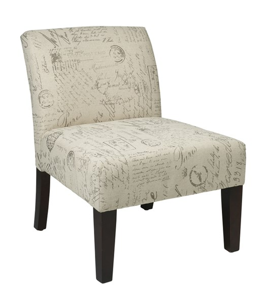 Laguna Contemporary Cream Fabric Espresso Solid Wood Accent Chair OSP-LAG51-S13