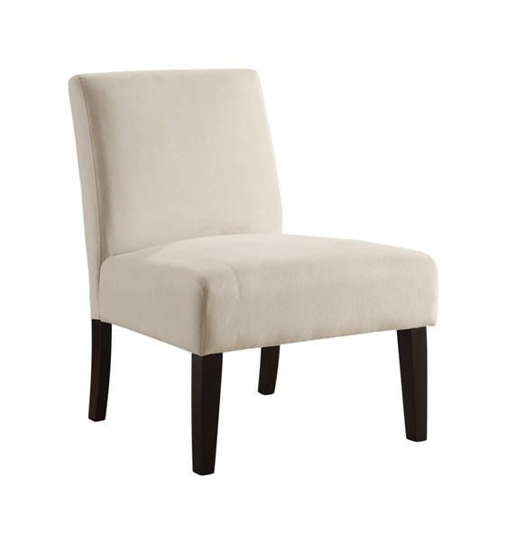 Laguna Contemporary Oyster Fabric Espresso Solid Wood Accent Chair OSP-LAG51-X12