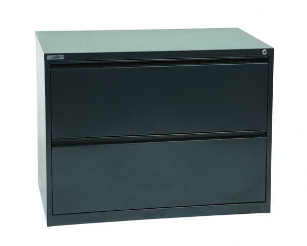Charcoal Metal Wide 2 Drawer Lateral File (L 20 X W 36 X H 28) OSP-LF236-C