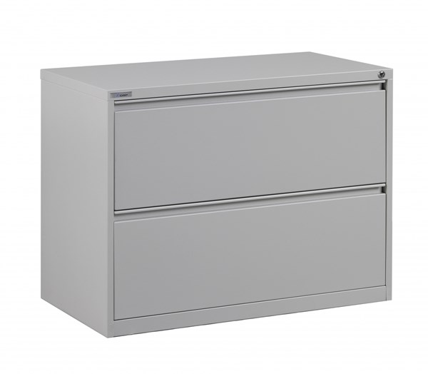 Ligth Gray Metal Wide 2 Drawer Lateral File (L 20 X W 36 X H 28) OSP-LF236-G
