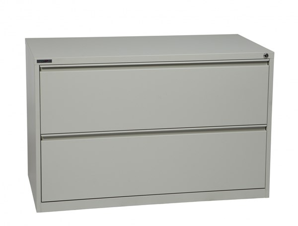 Ligth Gray Metal Wide 2 Drawer Lateral File (L 20 X W 42 X H 28) OSP-LF242-G