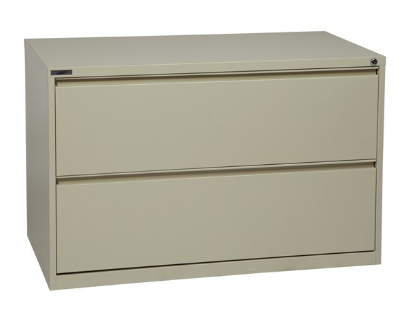 Putty Metal Wide 2 Drawer Lateral File (L 20 X W 42 X H 28) OSP-LF242-P