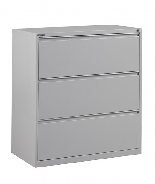 Ligth Gray Metal Wide 3 Drawer Lateral File (L 20 X W 36 X W 40) OSP-LF336-G