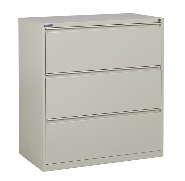 Putty Metal 36 Inch Wide 3 Drawer Lateral File (L 20 X W 36 X W 40) OSP-LF336-P