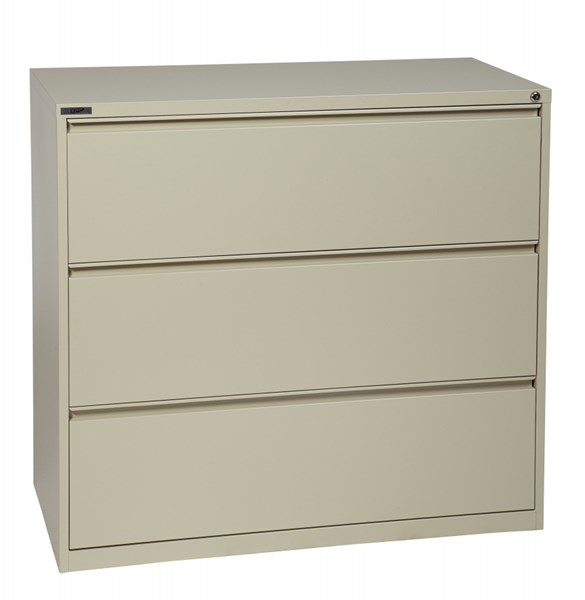 Putty Metal Wide 3 Drawer Lateral File (L 20 X W 42 X H 40) OSP-LF342-P