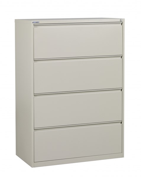 Putty Metal Wide 4 Drawer Lateral File (L 20 X W 36 X H 52) OSP-LF436-P