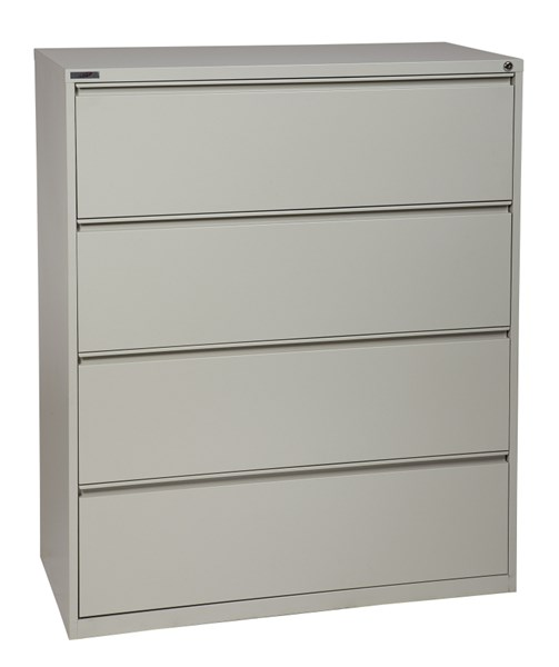 Light Gray Metal Wide 4 Drawer Lateral File (L 20 X W 42 X H 52) OSP-LF442-G