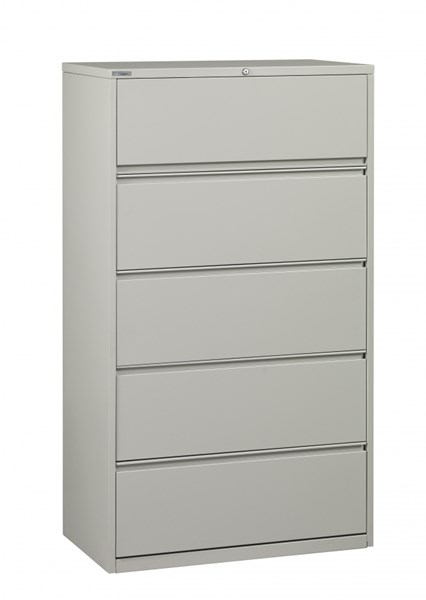 Light Gray Metal Wide 5 Drawer Lateral File (L 20 X W 42 X H 64) OSP-LF542-G