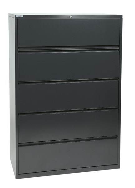 Charcoal Metal Wide 5 Drawer Lateral File (L 20 X W 42 X H 64) OSP-LF542-C