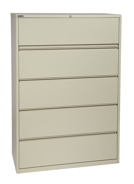 Putty Metal Wide 5 Drawer Lateral File (L 20 X W 42 X H 64) OSP-LF542-P