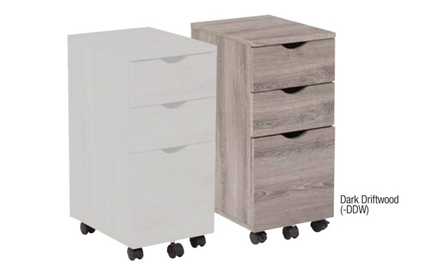 Lois File Cabinet in Driftwood Finish OSP-LOI60-CAB-VAR