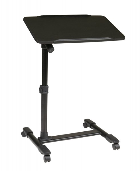 Loften Black Adjustable Top Mobile Laptop Cart OSP-LT733-3