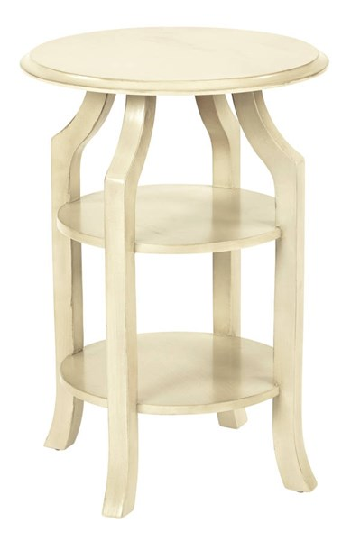 Lucero Transitional Antique Beige Wood Round Accent Table OSP-LUC6496-DH4